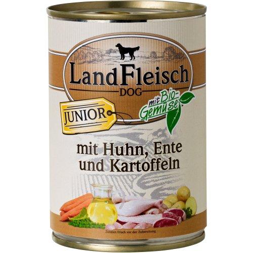 LandFleisch | Junior mit Huhn, Ente und Kartoffeln | 12 x 400 g