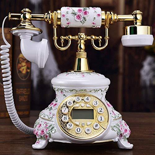 LDDZB Teléfono Retro Liña Hogar Sala de Estar Resina Decorativo Teléfono Retro Teléfono