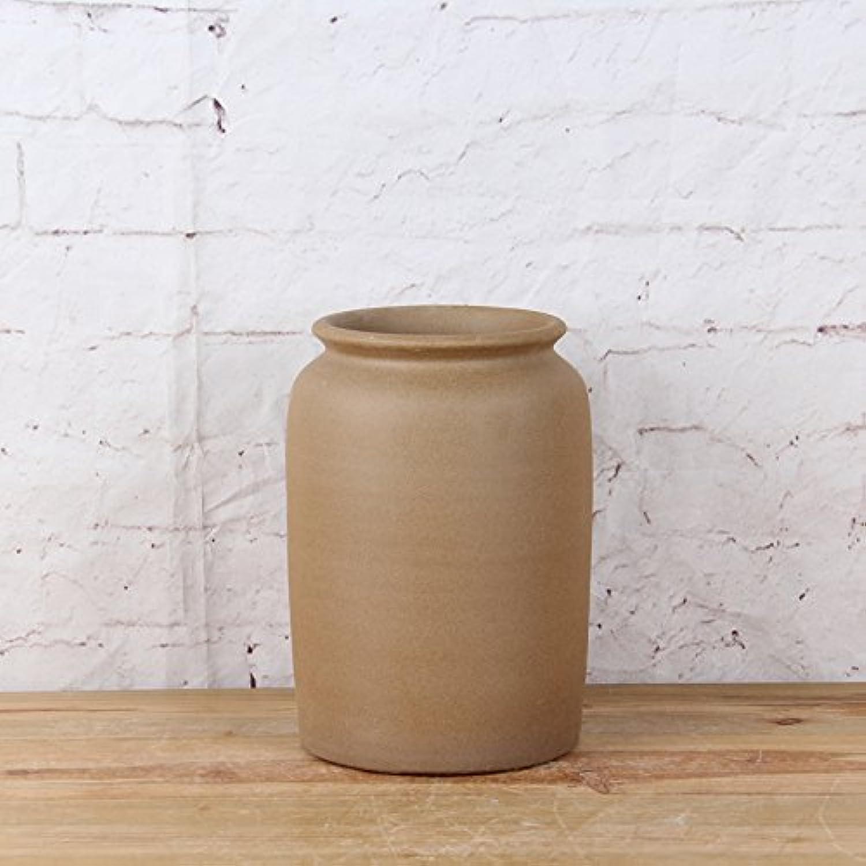 Dajidali@ Pot De Fleurs Fait Main FFaibleer Vase Poterie Grossière Du Sol,H30 D21
