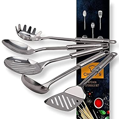 Stainless Steel Cooking Utensils, Kitchen Utensil Set of Main Serving Spoons