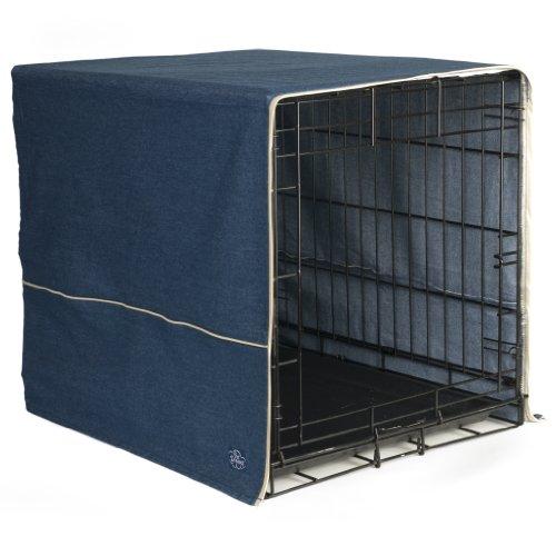 Pet Dreams- Dog Crate Cover- Denim Blue- Small