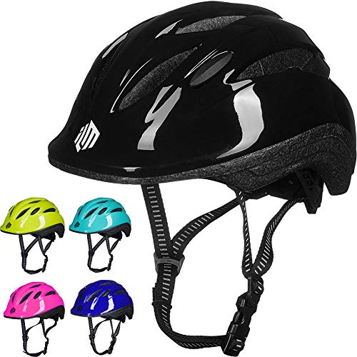 ILM Kids Youth Bike Helmet Toddler Bicycle Cycling Helmet with Adjustable Dial for Boys and Girls (Black, Small/Medium)