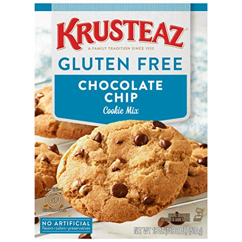 Krusteaz Gluten Free Chocolate Chip Cookie Mix, 18 Ounce, Pack of 8