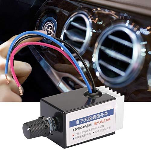 Módulo de controles, regulador de velocidad, controlador, 12 V / 24 V para calefactor de ventilador de camión de coche