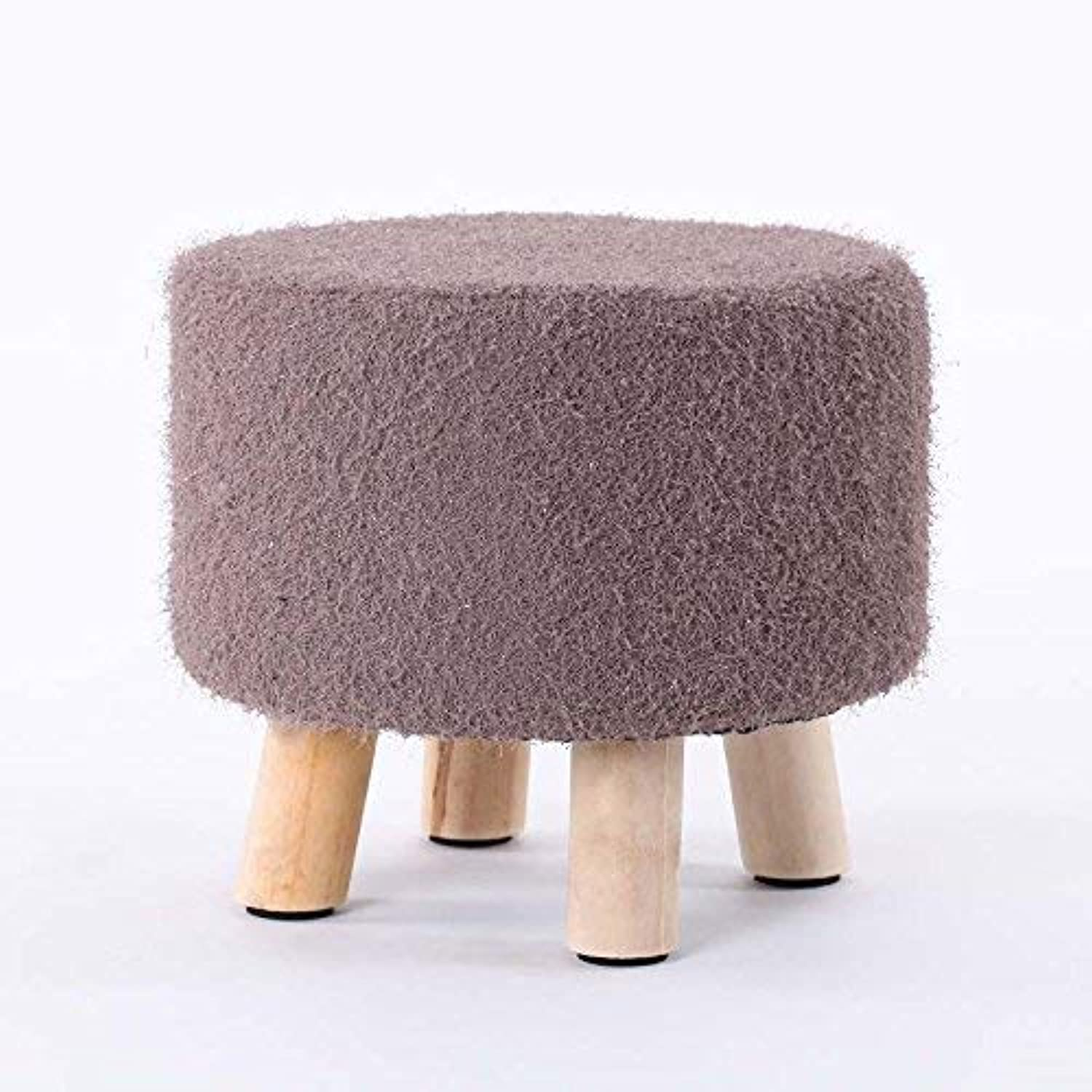QTQZ Brisk- Removable Washable Round Stool Solid Wood Simple Bench Sofa Stool Creative Low Stool for shoes Stool Sofa Stool (color Optional) (color  13)