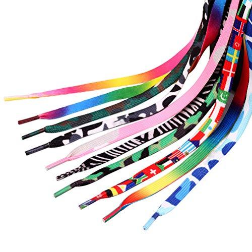 GARNECK 20Pcs Arcobaleno Colorato Lacci Delle Scarpe Lacci Delle Scarpe per Squadre Sneakers Scarpe da Skate Stivali E Scarpe Sportive Bomboniere