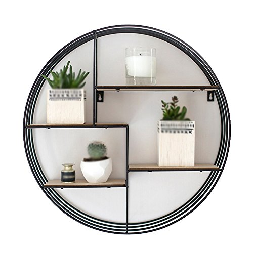 TRRE@ Eisen-runder Lagerregal/europäisches Wohnzimmer Wandregale/Bücherregal/modern wandmontiertes Regal/Vollholz Lagerregale / -Schlafzimmer küchenregale Regale (größe : 80 * 25cm)