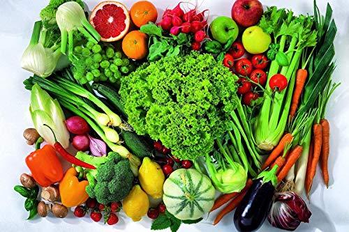 Yingxin34 Rompecabezas de 1500 Piezas Una Variedad de Frutas y Verduras Adultos Niños Rompecabezas de Madera Ocio Juegos creativos Juguetes Rompecabezas 87x57cm