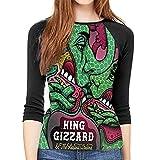 maichengxuan King Gizz-ard and The Liz-ard Wizard Camisetas de mujer Vogue Sudaderas cuello redondo Jumper Tee Blusas
