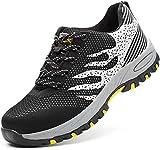 GUFANSI Zapatos de seguridad, ligeros, Kevlar, para hombres y mujeres, zapatos de trabajo, puntera...