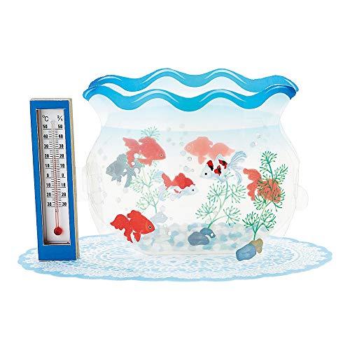 暑中見舞いカード 温度計付き 金魚鉢 S4261
