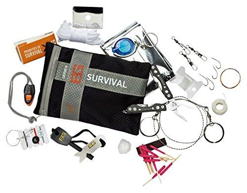Gerber Survival GBR-1021137 Kit di Sopravvivenza, Grigio, Medio