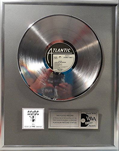 AC/DC Flick of the Switch platin Schallplatte (goldene Schallplatte)