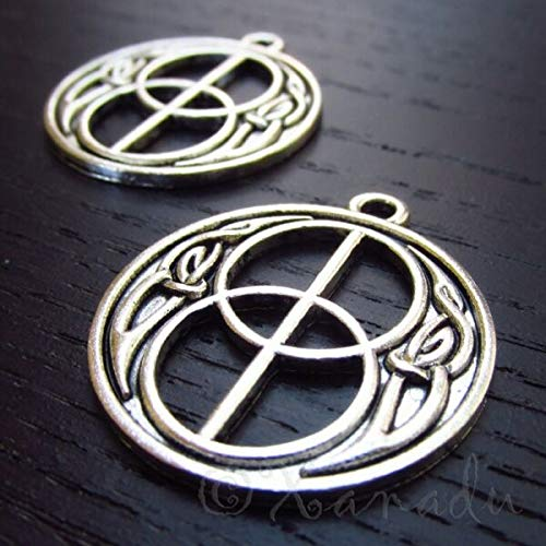 UNAMY ST | Crafts, Jewelry Making | Celtic Knot Charms 30mm Antiqued Silver Plated Pendants (10PCs) UNAMY ST