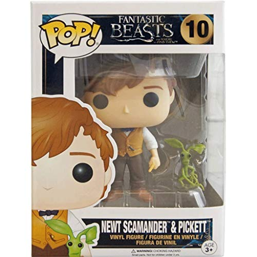 Funko Pop Movie : Fantastic Beasts Them - Newt Scamander and Pickett 3.75inch Vinyl Gift for Fantasy Movie Fans SuperCollection