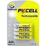 PKCELL - Batteria ricaricabile NiMH ad alta capacità 1,2 V AAA 1000 mAh per prodotti digitali