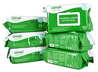 Clinell CW200-1 Universal Wipes (Pack of 6) by GAMA Healthcare