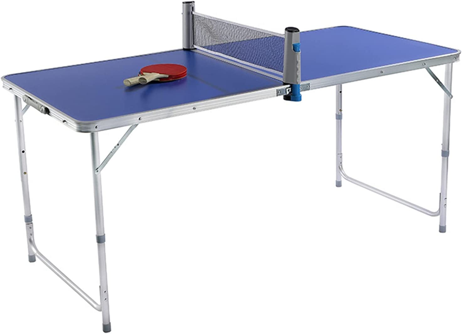 Mesa De Ping-Pong Pequeña para Niños, Mesa De Tenis De Mesa Plegable para Exteriores, Tablero De Fibra De Densidad, Fácil De Instalar, 150x70x70cm