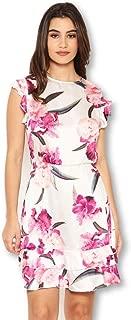 AX Paris Women's Floral Frill Sleeve Dress