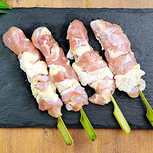 水郷のとりやさん 地鶏 名古屋 コーチン 焼き鳥用 生串 もも串 4本入 ※冷凍便限定 焼鳥 串物
