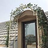ADASP Cenador de jardín de 7 pies, Arcos de Rosas, Arco de Boda al Aire Libre, Ideal para trepar Enredaderas y Plantas para Ceremonia, Patio de jardín, decoración de Fiesta