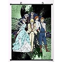 文豪ストレイドッグスアニメマンガ壁ポスタースクロール家の装飾壁アート 19.7x29.5inch/50x75cm