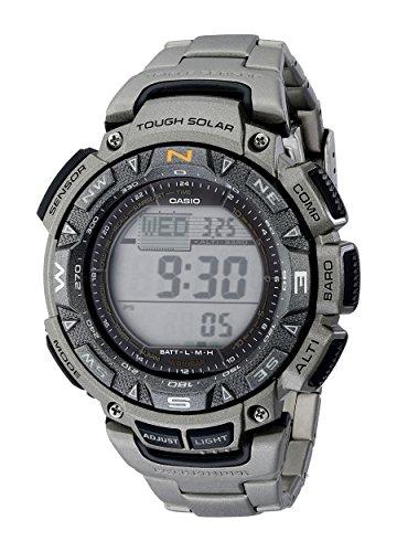 Casio Men's PAG240T-7CR Pathfinder Triple-Sensor Stainless Steel Watch