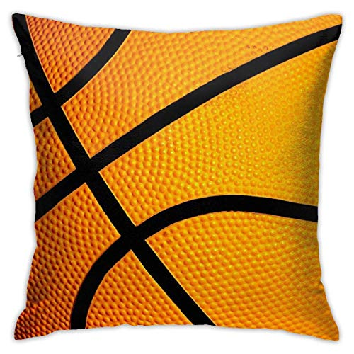 brandless Basketball Cover Case Handy Tablet Ipad Sports Team Gift Bedroom Sofa Decorative Cushion Throw Pillow Cover Case 18 X 18 Inch