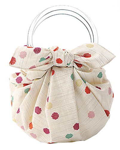 モダンガール いちごバッグ 風呂敷といちごリングのセットです(作り方しおり付) (こんぺいとうベージュ)
