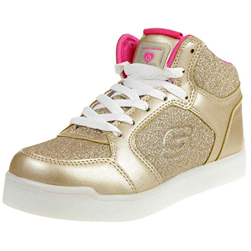 Skechers Energy Lights: E-Pro Glitter Glow, Zapatillas Altas para Niñas, Dorado (Gold Gld), 27 EU