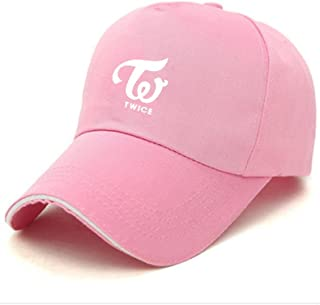 KingYang Kpop BTS GOT7 EXO Twice Member Baseball Cap Hat Fanshion Snapback with lomo Card, Pink, Adjustable