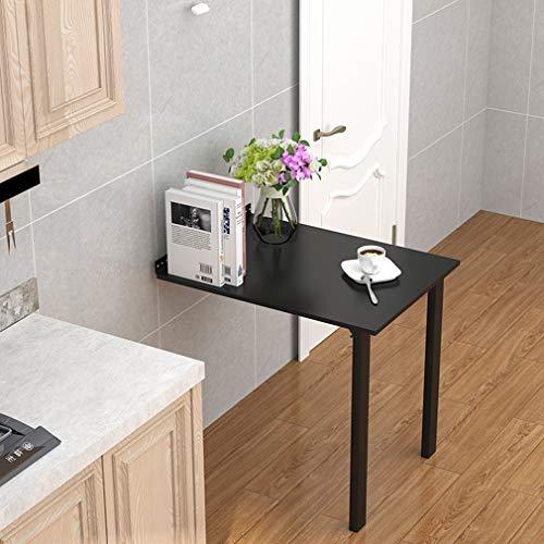 Wandtisch Wandklapptisch, Küchenwand-Esstisch, Ausziehbarer Unsichtbarer Esstisch, Kreativer Multifunktions-Computertisch, Stehtisch, Einfach Und Stilvoll, Schwarz (80x40cm/31.5x15.5in)