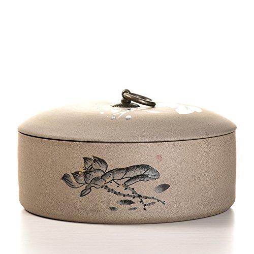 Vaso di porcellana,Canister de thé,Coffres de stockage de thé,Service à thé Boîte à thé Jarre à thé en céramique-B 9x22cm(4x9inch)
