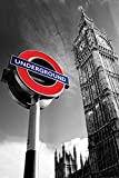 London - Poster - Big Ben & Underground Sign + Ü-Poster