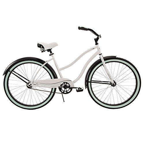 """Huffy 26"""" Womens' Cranbrook Cruiser Bike with Perfect Fit Frame, White"""