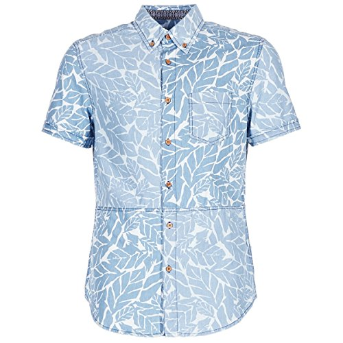 DESIGUAL COTEDE Camisas Hombres Azul - L - Camisas Manga Cor
