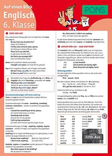 PONS Englisch 6. Klasse auf einen Blick: Die kompakte Übersicht für das ganze Schuljahr (PONS Auf einen Blick)