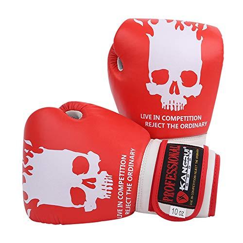 1 Paar Boxhandschuhe, Kickboxing Bagwork Gel Sparring Trainingshandschuhe, Kampfhandschuhe Männer & Frauen, Microfaser Boxhandschuhe Muay Thai Boxing, Kickboxen, Trainingsboxen,Red
