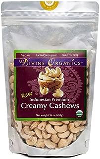 Divine Organics, 16oz Raw Indonesian Cashews