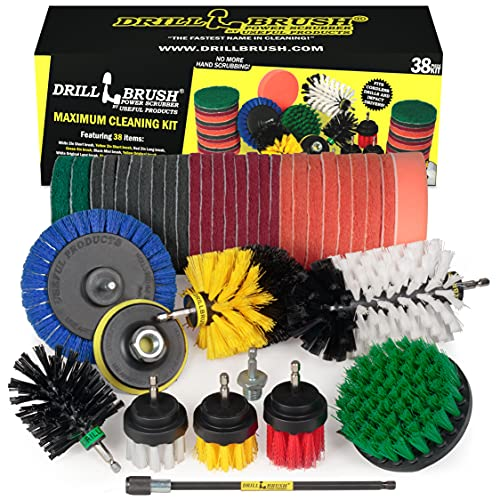 Household Cleaning Kit Drill Brush Set - Car Cleaning Kit - Attachment Brushes for Power Tools - Variety Scrub Brush Set - Toilet Brush Cleaning - Detailing Brush Set - Grout Brush - Clean Bathtub