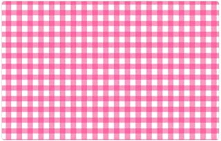 Tree26 Indoor Floor Rug/Mat (23.6 x 15.7 Inch) - Checks Checked Gingham Pink White Background