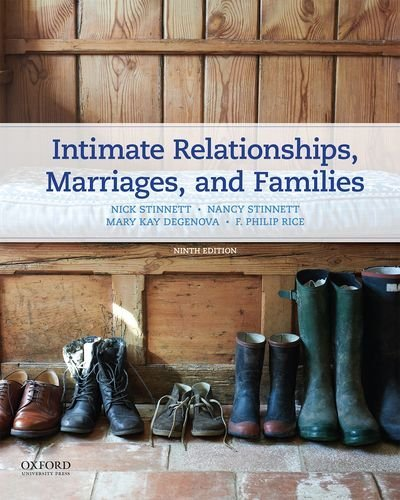 Compare Textbook Prices for Intimate Relationships, Marriages, and Families 9 Edition ISBN 9780190278571 by Stinnett, Nancy,Stinnett, Nick,DeGenova, Mary Kay,Rice, F. Philip