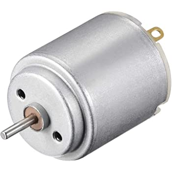 uxcell 2 Pcs Micro DC Motor DC 3V 11600-12000RPM High Speed Miniature Motors DIY Toy Car Parts