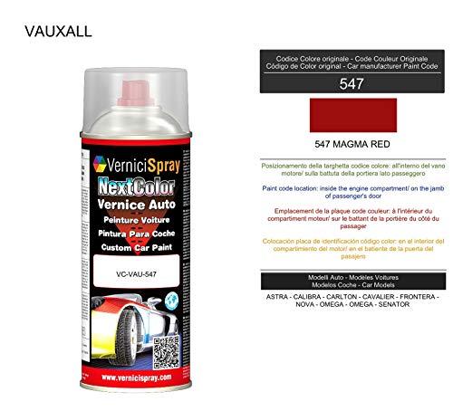 Spray Pintura Coche para VAUXALL 547 MAGMA RED - Aerosol pintura para reparar carrocería 400 ml producido por VerniciSpray