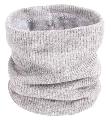 heekpek Sciarpa Invernale Donna Sciarpa Rotonda Lavorata a Maglia (grigio)