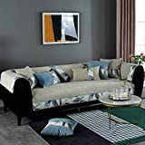 Cubierta Modular de sofá Impermeable,Dos Plazas Antideslizante Funda para Sofá,Universal Acolchado Funda,Cubre Sofá para Chaise Long Rinconera,para Invierno,Caqui_70×180cm