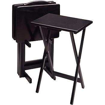 Winsome Alex TV Tables, Black