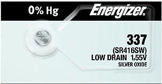 Energizer 337 SR416SW Lot de 2 piles de montre à oxyde d'argent