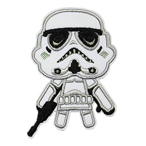 Star Wars The Phantom Menace Storm Trooper Emoji Logo Iron on Patch