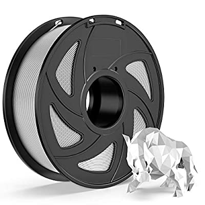 E-DA PLA 3D Printer Filament, PLA Filament 1.75mm 1KG, with High Strength and Better Toughness, 3D Printing Filament for 3D Printers, Dimensional Accuracy +/- 0.03mm, (Silver)